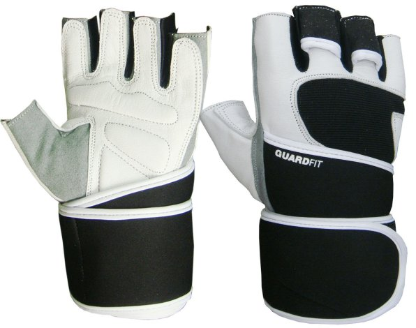 GuardFit Premium Leather Weight Lifting Gloves