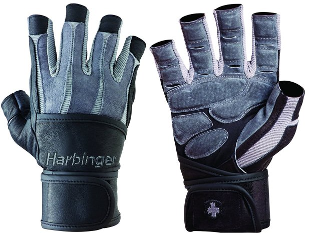 Harbinger Men's BioForm WristWrap Weightlifting Glove