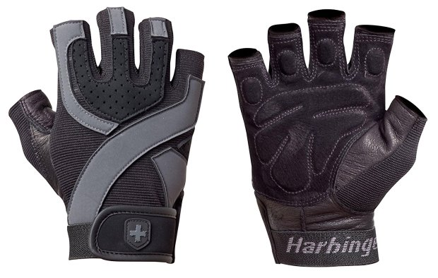 Harbinger Training Grip Non-Wristwrap Weightlifting Gloves